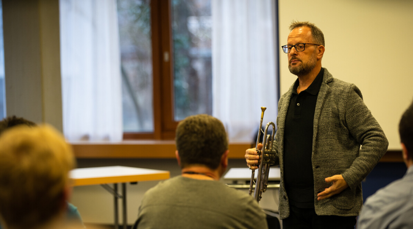 Frits Damrow, Professor für Trompete an der Musikhochschule Zürich, früher Concertgebouw Amsterdam