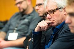 """Aufmerksame Zuhörer in der Talkrunde """"Quo Vadis Musikverein"""" mit Prof. Ernst Ostreicher"""