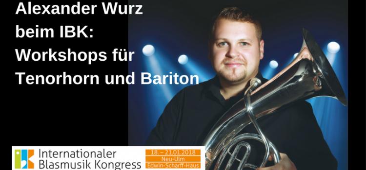 Tenorhorn / Bariton Workshop mit Alexander Wurz