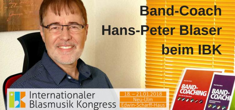 Band-Coach Hans-Peter Blaser beim IBK