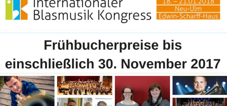 IBK – Frühbucherpreise bis einschließlich 30. November 2017