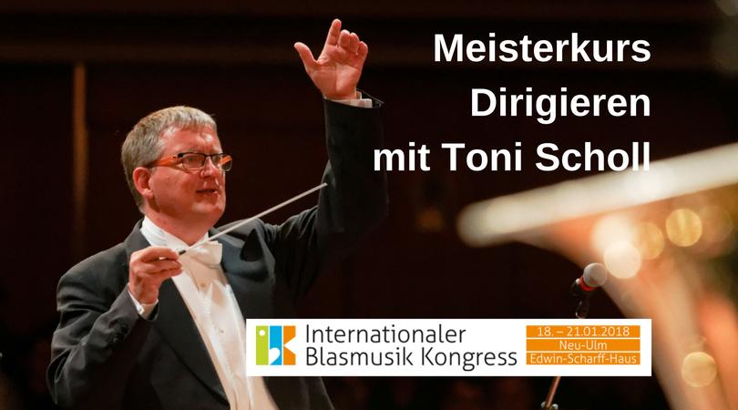 Meisterkurs Dirigieren mit Toni Scholl