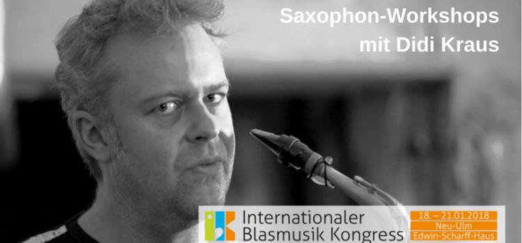 Saxphonworkshops mit Didi Kraus