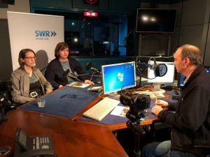 Alexandra Link im Gespräch mit SWR4-Moderator Peter Köpple