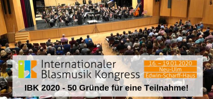 IBK 2020 – 50 Gründe für eine Teilnahme!