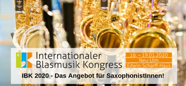 IBK 2020 – Das Angebot für SaxophonistInnen