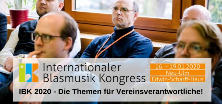 IBK 2020 – Die Themen für Vereinsverantwortliche!