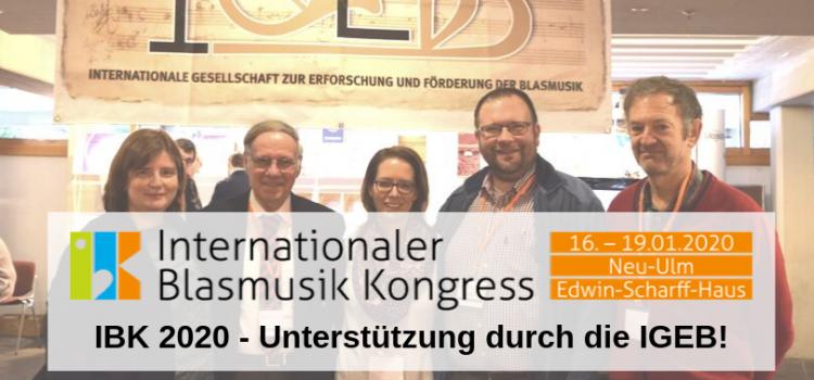 IBK 2020 – Unterstützung durch die IGEB