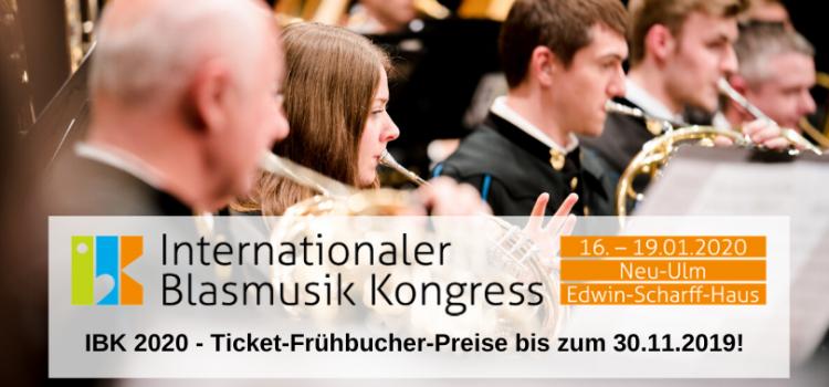 IBK 2020 – Frühbucher-Preise bis zum 30. November 2019!