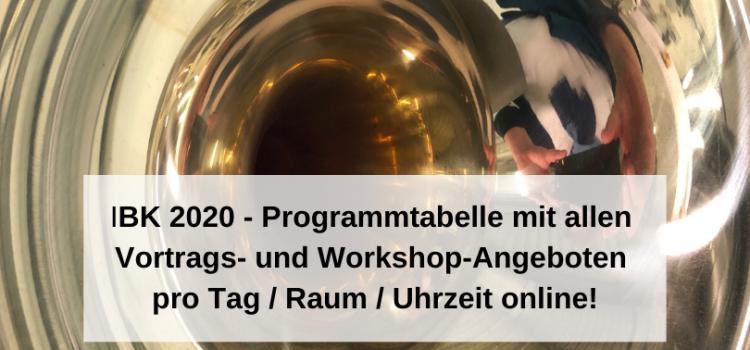 IBK 2020 – Die Programmtabelle zum Download ist online!